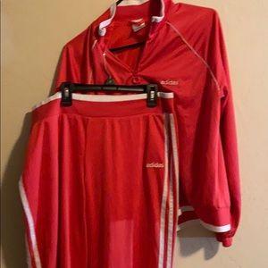 Adidas Orange/pink pants/Jacket outfit